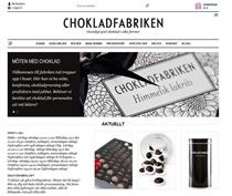 Chokladfabriken ny hemsida - startsida
