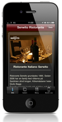 Serwito iPhone applikation