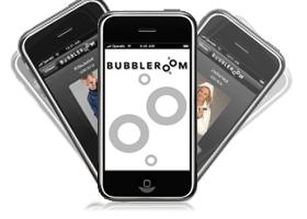 Iphone applikation bubbleroom
